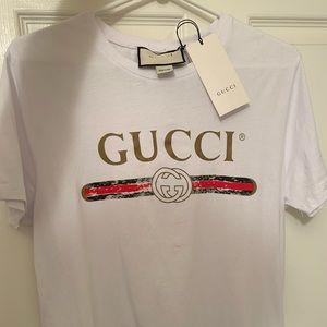 Gucci Shirts - Gucci White Classic Logo T-Shirt